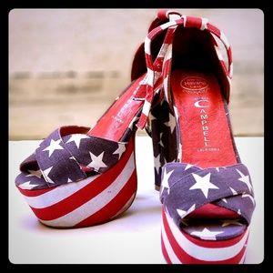 Jeffery Campbell Platform/High Heel American Flag